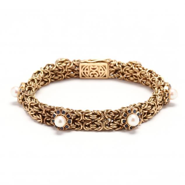 18kt-gold-and-gem-set-bracelet