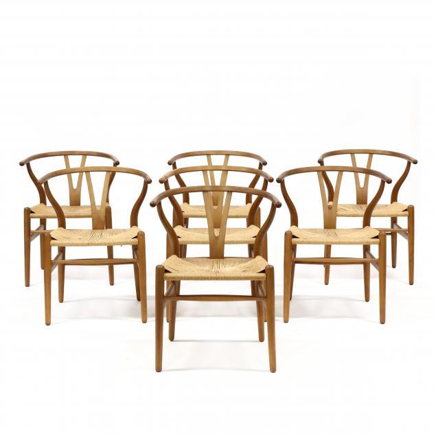 hans-wegner-denmark-1914-2007-set-of-seven-wishbone-chairs