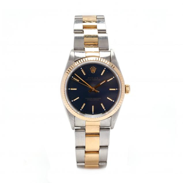 gent-s-18kt-gold-and-stainless-steel-oyster-perpetual-watch-rolex
