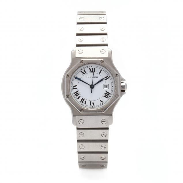 lady-s-stainless-steel-santos-octagon-watch-cartier