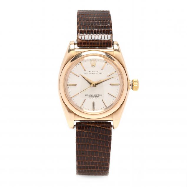 gent-s-vintage-14kt-gold-oyster-perpetual-bubble-back-watch-rolex