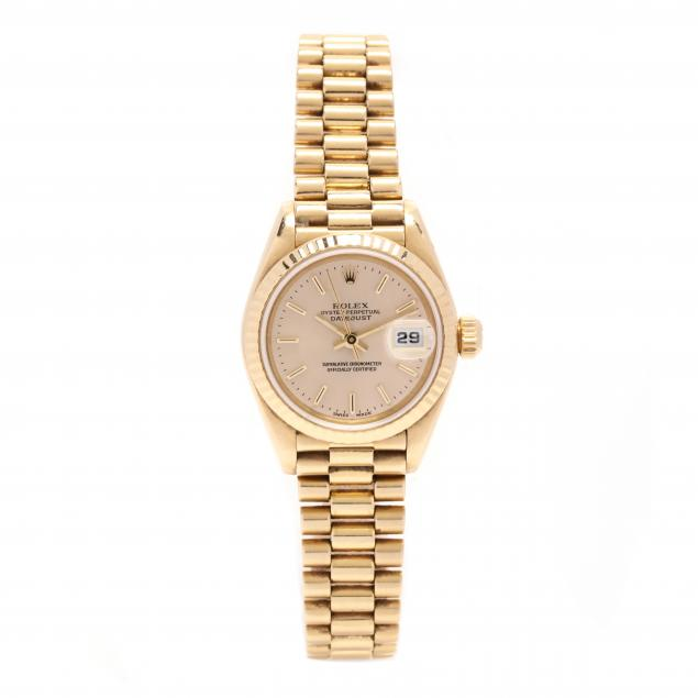 lady-s-18kt-gold-oyster-perpetual-datejust-watch-rolex