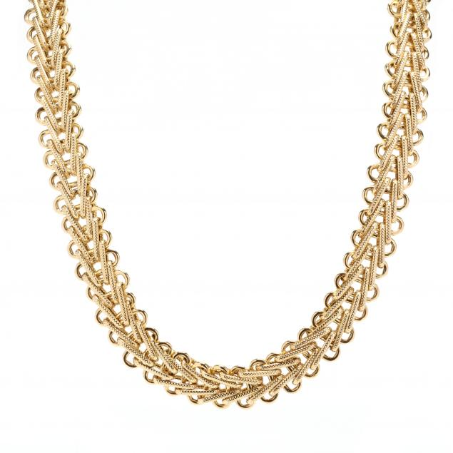14kt-gold-woven-necklace