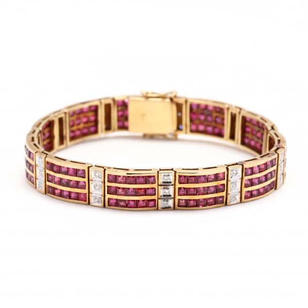 18kt-gold-ruby-and-diamond-bracelet
