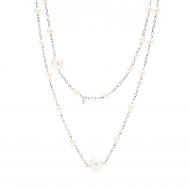 18kt-white-gold-pearl-station-necklace
