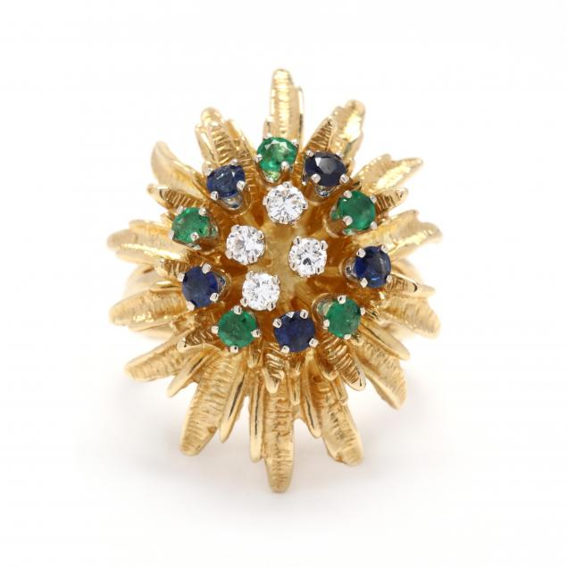 18kt-gold-diamond-and-gem-set-ring
