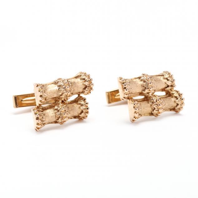14kt-gold-bamboo-cufflinks