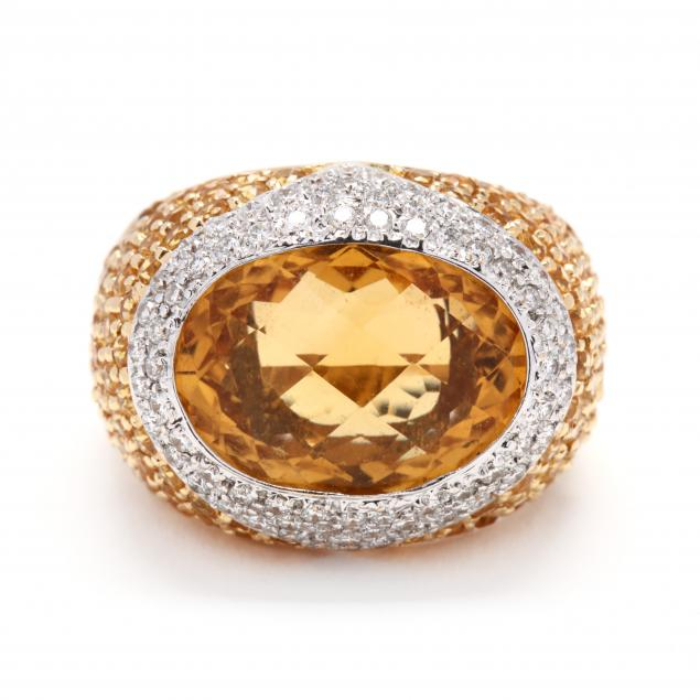 18kt-bi-color-gold-citrine-and-diamond-ring