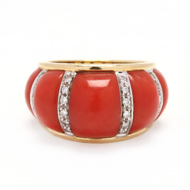 18kt-gold-coral-and-diamond-ring-italian