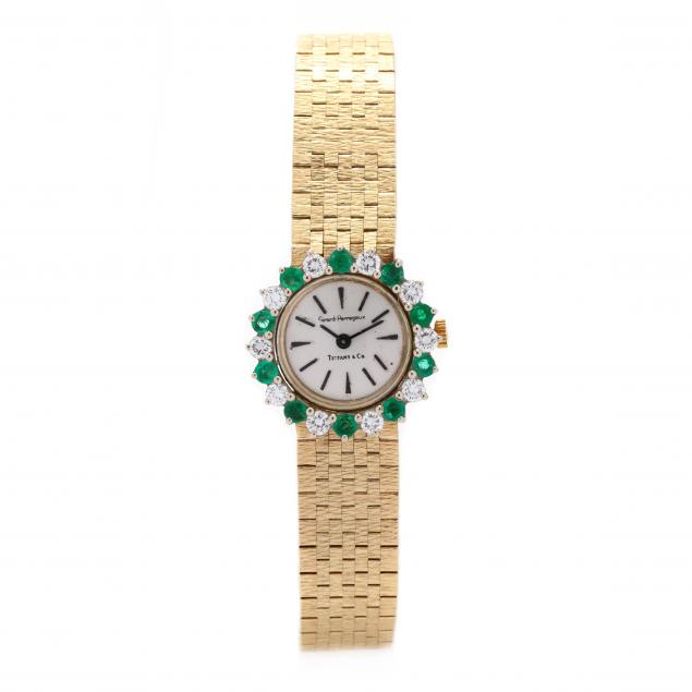 14kt-gold-emerald-and-diamond-watch-girard-perregaux-for-tiffany-co