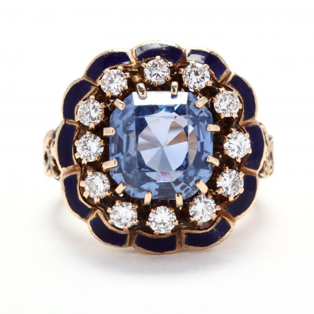 gold-sapphire-diamond-and-enamel-ring