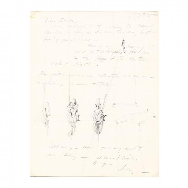 andrew-wyeth-pa-1917-2009-letter-with-drawings
