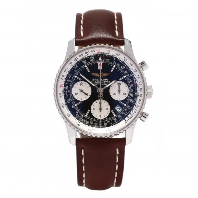 gent-s-stainless-steel-chronometre-navitimer-watch-breitling