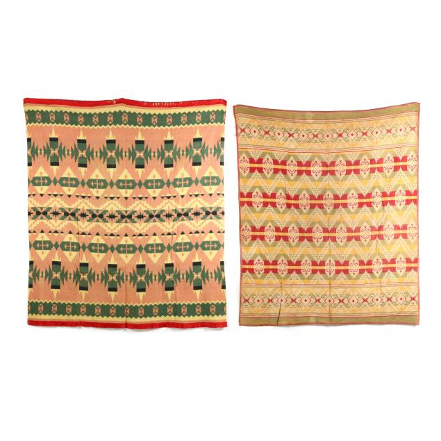 two-vintage-beacon-style-blankets