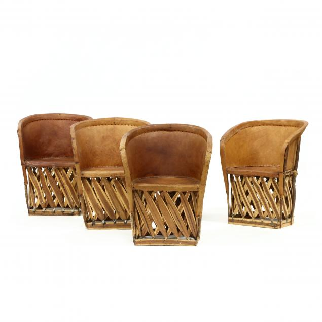four-vintage-mexican-equipale-pigskin-chairs