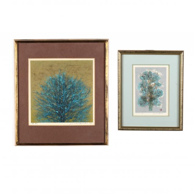 joichi-hoshi-japanese-1911-1979-i-treetop-blue-i-and-i-small-tree-blue-i