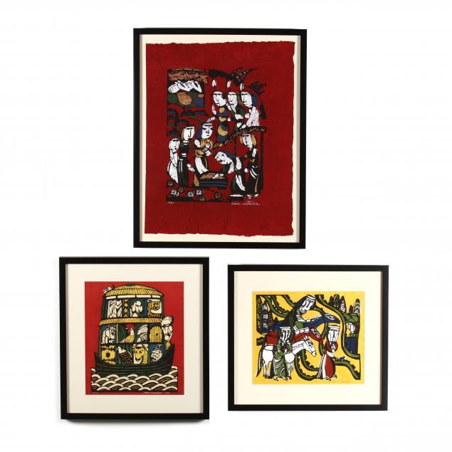 sadao-watanabe-japanese-1913-1996-three-stencil-prints
