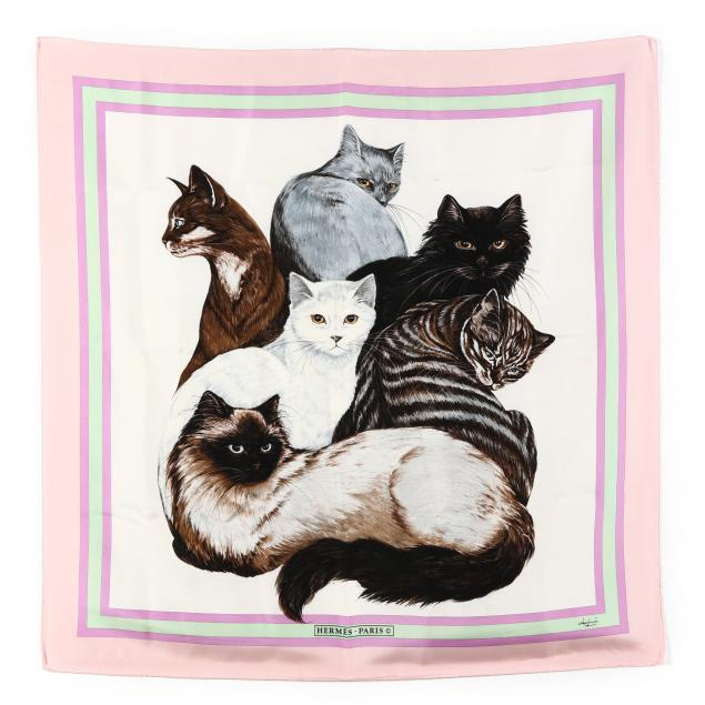 rare-vintage-silk-scarf-i-les-chats-hermes-i