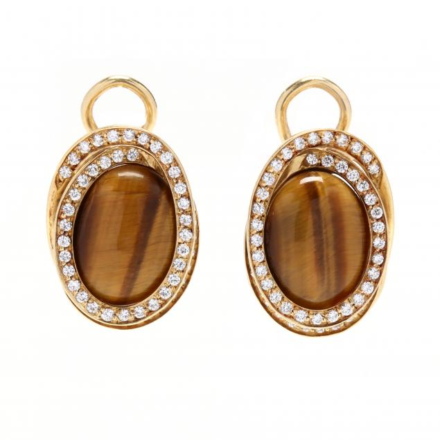 18kt-gold-tiger-s-eye-and-diamond-earrings-roberto-coin