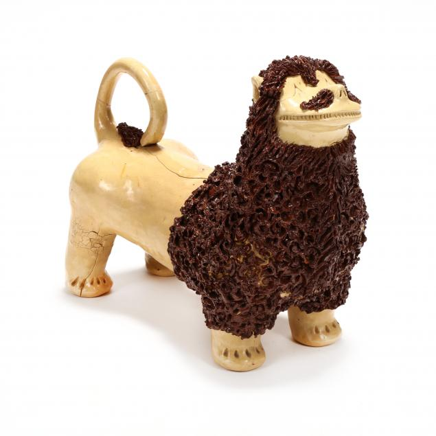nc-folk-pottery-billy-ray-hussey-large-lion