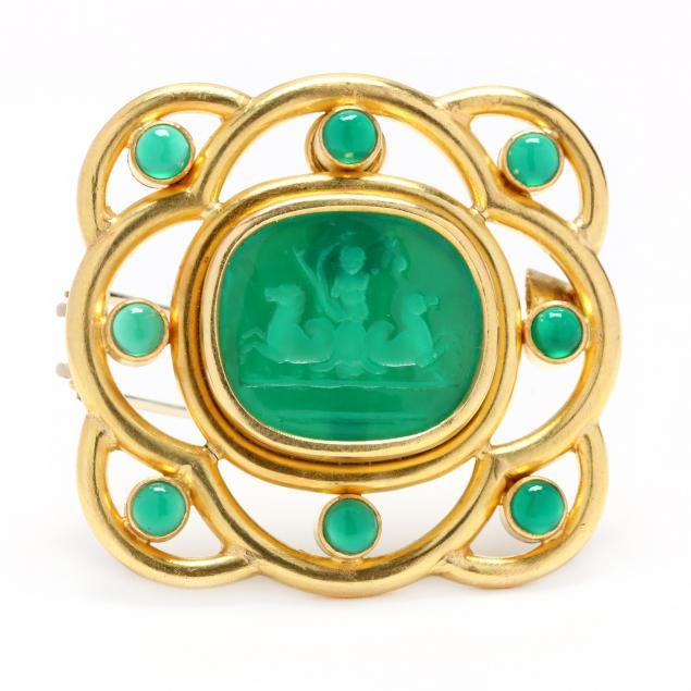 18kt-gold-venetian-glass-and-gem-set-brooch-pendant-elizabeth-locke