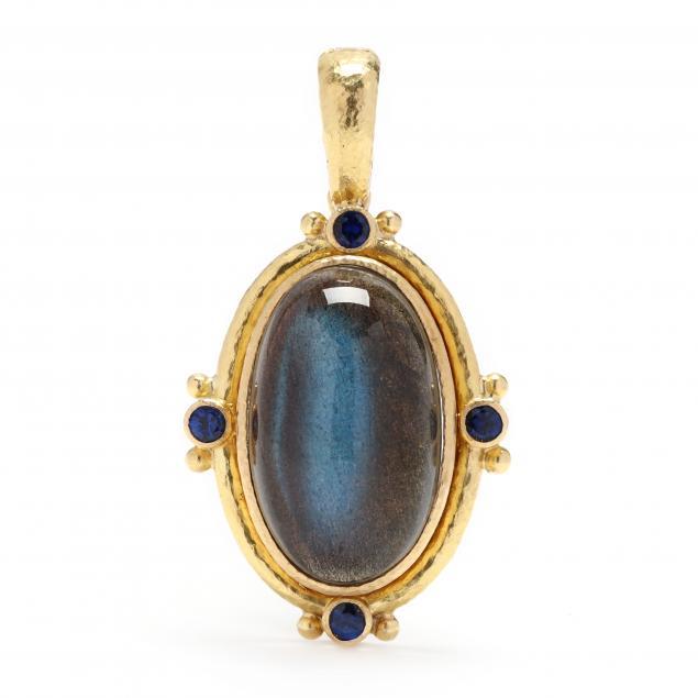 19kt-gold-labradorite-and-sapphire-pendant-elizabeth-locke