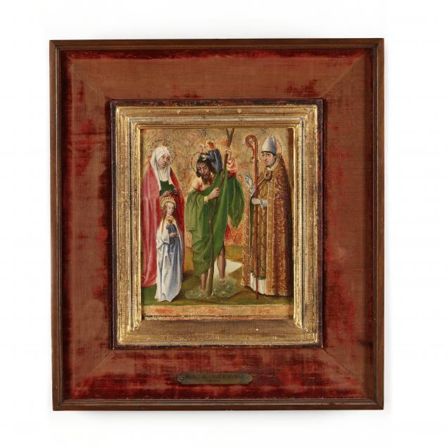 a-medieval-devotional-painting-featuring-saint-anne-saint-christopher-with-the-christ-child-and-saint-erasmus