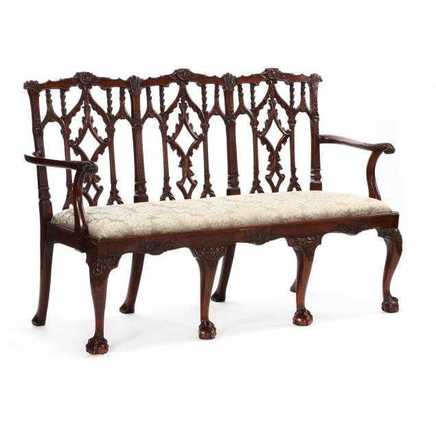 antique-english-chippendale-style-carved-mahogany-triple-back-settee
