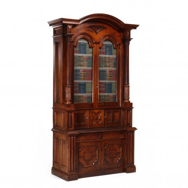 american-renaissance-revival-large-walnut-desk-and-bookcase