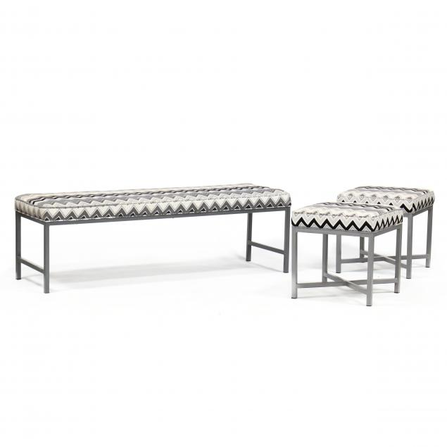 three-modern-steel-benches