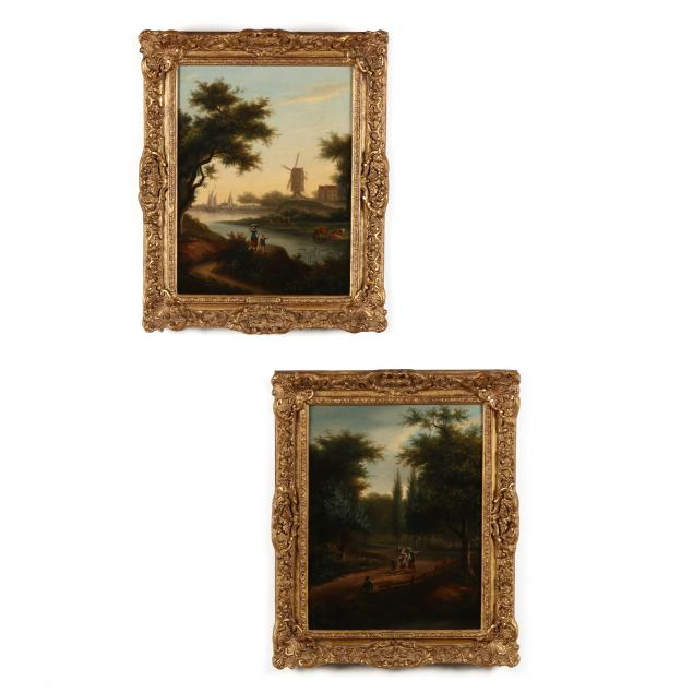 frans-swagers-dutch-french-1756-1836-two-bucolic-landscapes-with-figures