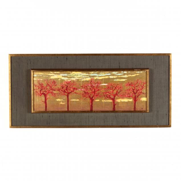 joichi-hoshi-japanese-1913-1979-i-red-tree-b-i