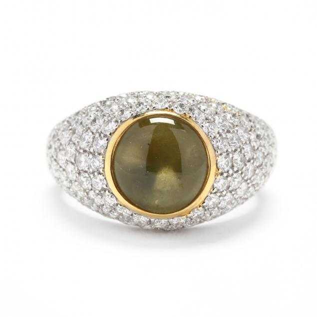 18kt-bi-color-gold-cat-s-eye-chrysoberyl-and-diamond-ring