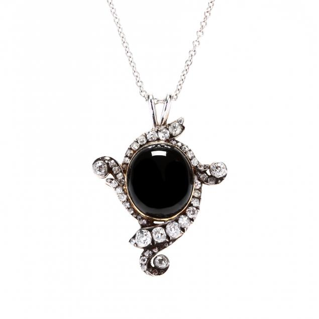 antique-silver-topped-gold-and-gem-set-pendant