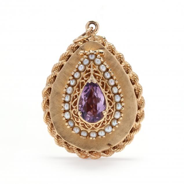 14kt-gold-and-gem-set-charm-pendant