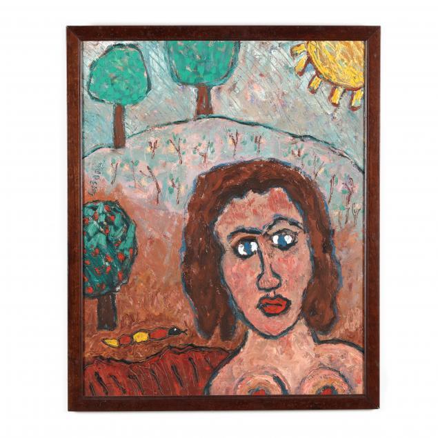 joe-lafone-nc-b-1940-landscape-with-woman-and-snake
