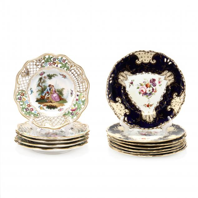 two-sets-of-antique-dresden-plates