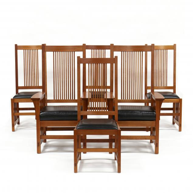 stickley-set-of-six-mission-cherry-dining-chairs