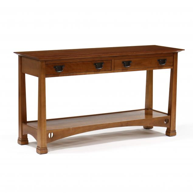 stickley-mission-cherry-console-table-server