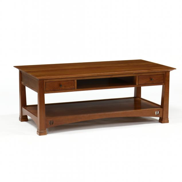 stickley-mission-cherry-coffee-table