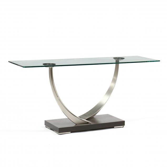 ambiente-glass-and-steel-console-table