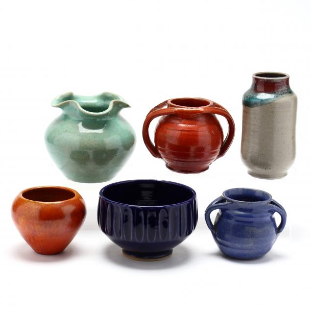 a-selection-of-six-nc-pottery-vessels