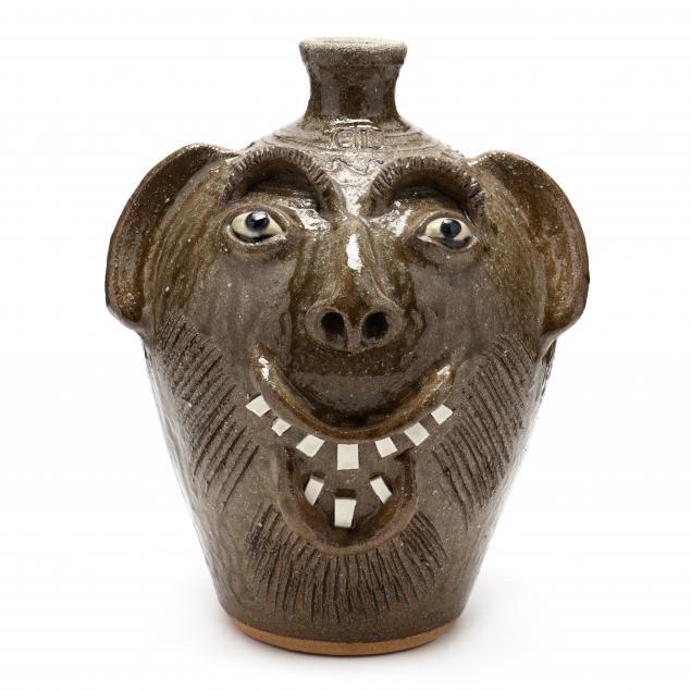 western-nc-folk-pottery-charles-lisk-face-jug