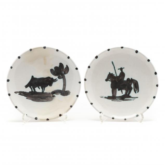 pablo-picasso-spanish-1881-1973-i-taureau-sous-l-arbre-a-r-159-i-and-i-picador-a-r-160-i-two-plates