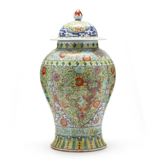 a-large-chinese-famille-verte-covered-jar