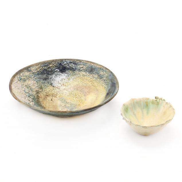 two-modern-ceramic-bowls-including-sally-prange-nc-1927-2007