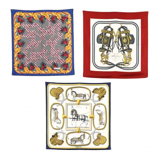 three-fashion-scarves-tiffany-and-hermes