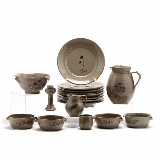 jugtown-pottery-dinnerware-of-twenty-two-pieces
