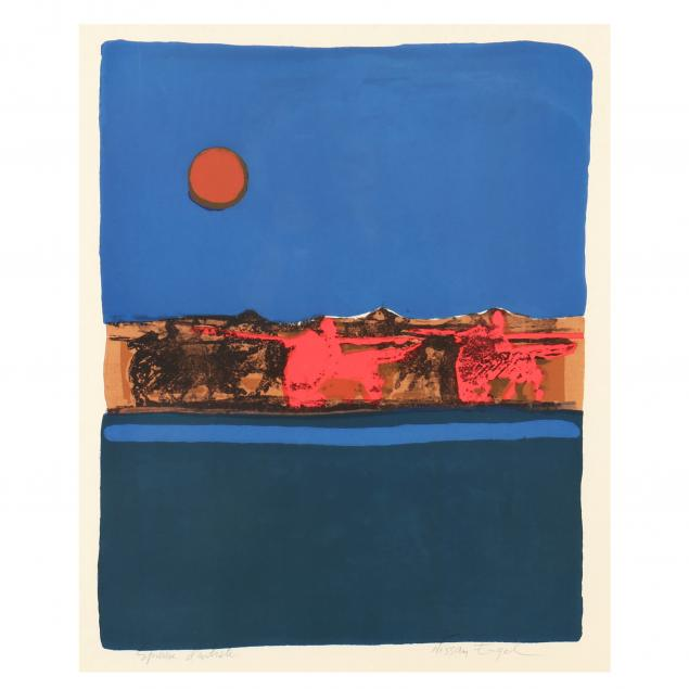 nissan-engel-israeli-born-1931-silkscreen-in-colors-nocturne-with-red-moon