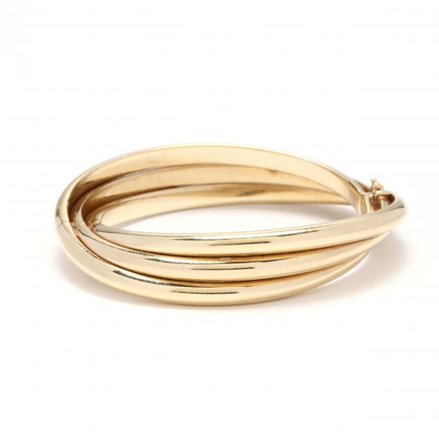 14kt-gold-three-row-bangle-bracelet